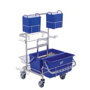 Úklidový vozík pro čisté prostory Clino® CR4 MF-CR